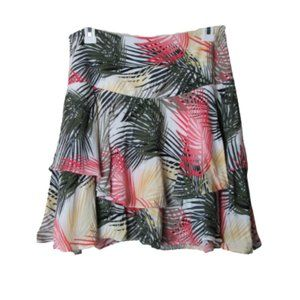 White house black market tropical tiered skirt 4
